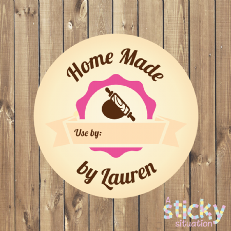 Personalised Home Made Cooking Labels